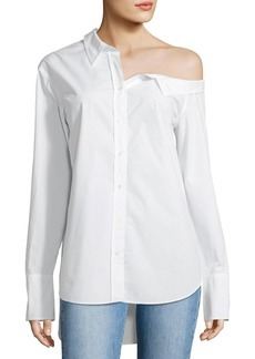 A.L.C. Wesley Off-One-Shoulder Cotton Top