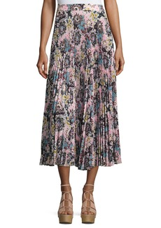 A.L.C. Williams Pleated Floral Midi Skirt