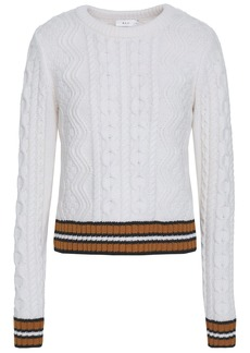 A.l.c. Woman Alpha Striped Merino Wool-blend Sweater White