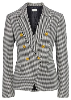A.l.c. Woman Alton Double-breasted Houndstooth Cotton-blend Blazer Black