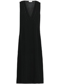 A.l.c. Woman Araya Lace-trimmed Silk-blend Crepe Midi Dress Black