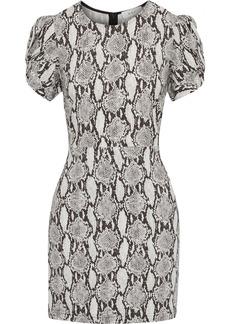 A.l.c. Woman Brinley Twisted Snake-print Cady Mini Dress Black