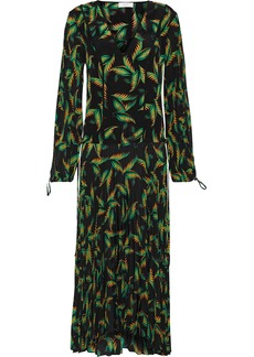 A.l.c. Woman Brooks Printed Silk Midi Dress Black