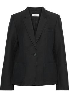 A.l.c. Woman Campbell Cotton And Silk-blend Blazer Black