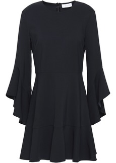 A.l.c. Woman Cassidy Fluted Crepe Mini Dress Midnight Blue