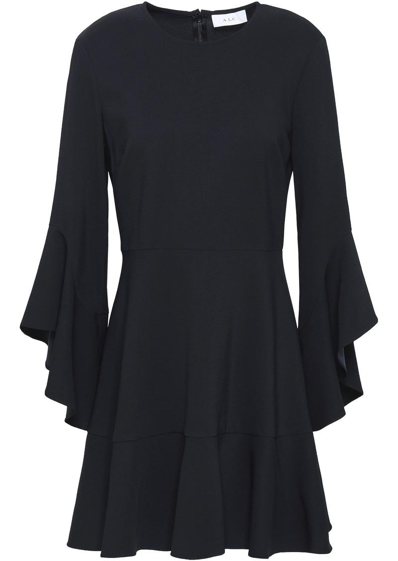 A.l.c. Woman Cassidy Fluted Crepe Mini Dress Midnight Blue