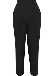 A.l.c. Woman Colin Cropped Pleated Twill Tapered Pants Black