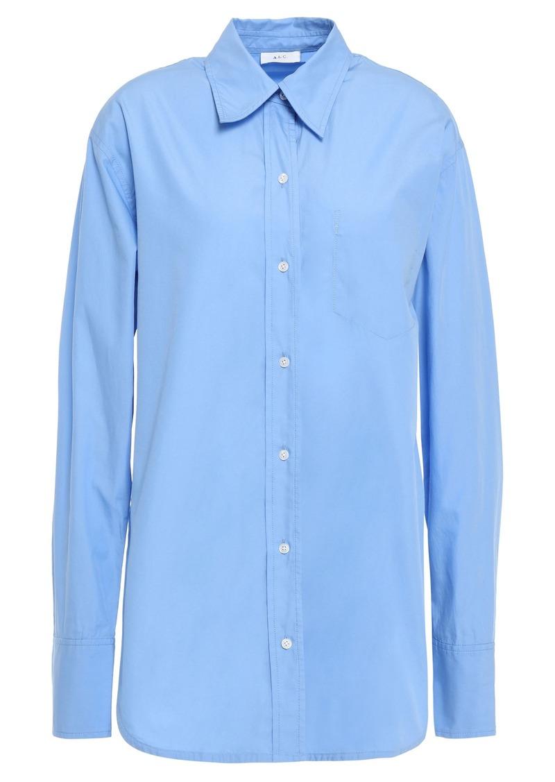 A.l.c. Woman Cotton-poplin Shirt Light Blue