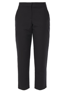 A.l.c. Woman Cropped Cotton And Silk-blend Straight-leg Pants Black