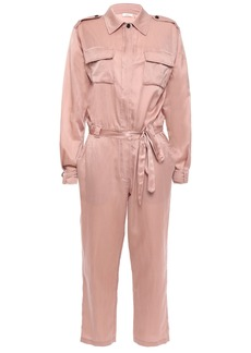 A.l.c. Woman Jeter Cropped Cotton And Silk-blend Satin Jumpsuit Antique Rose