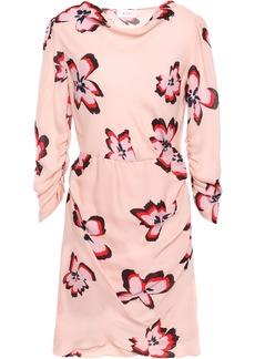 A.l.c. Woman Draped Floral-print Silk-georgette Mini Dress Blush