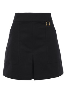 A.l.c. Woman Embellished Cotton-blend Crepe Mini Skirt Black