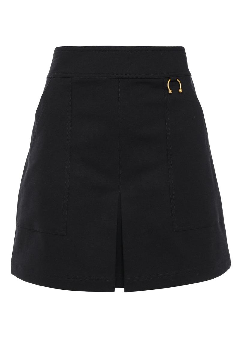 A.l.c. Woman Embellished Cotton-blend Crepe Mini Skirt Black