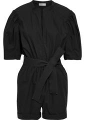A.l.c. Woman Erica Belted Cotton-poplin Playsuit Black