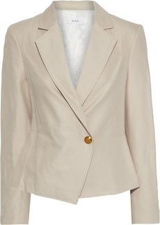 A.l.c. Woman Fremont Linen And Cotton-blend Twill Peplum Blazer Beige
