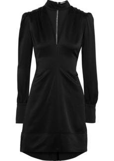 A.l.c. Woman Garrison Cutout Hammered-satin Mini Dress Black