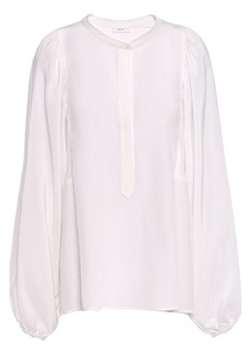 A.l.c. Woman Gathered Silk Crepe De Chine Blouse Off-white