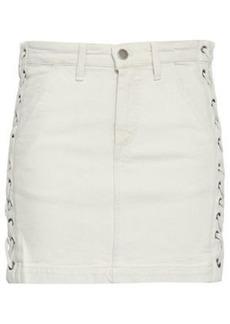 A.l.c. Woman Lace-up Denim Mini Skirt Off-white