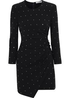 A.l.c. Woman Lana Draped Crystal-embellished Crepe Mini Dress Black