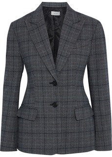 A.l.c. Woman Landis Prince Of Wales Checked Woven Blazer Gray