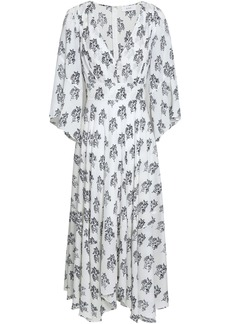 A.l.c. Woman Mckenna Floral-print Silk Crepe De Chine Midi Dress Off-white