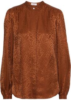 A.l.c. Woman Owens Silk-jacquard Shirt Tan