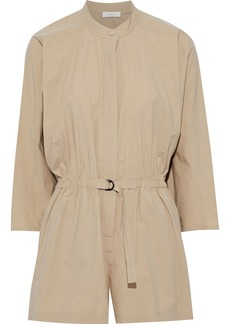 A.l.c. Woman Penelope Cotton-blend Poplin Playsuit Sand