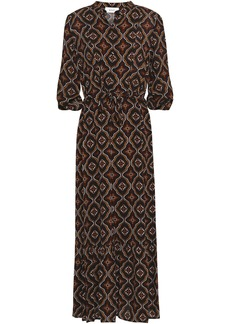 A.l.c. Woman Raelyn Printed Silk Crepe De Chine Midi Dress Black