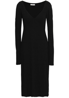 A.l.c. Woman Ribbed-knit Midi Dress Black