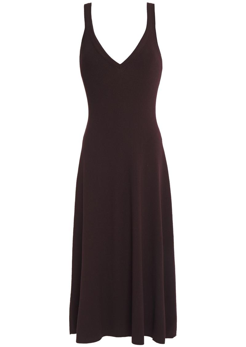 A.l.c. Woman Ribbed-knit Midi Dress Chocolate