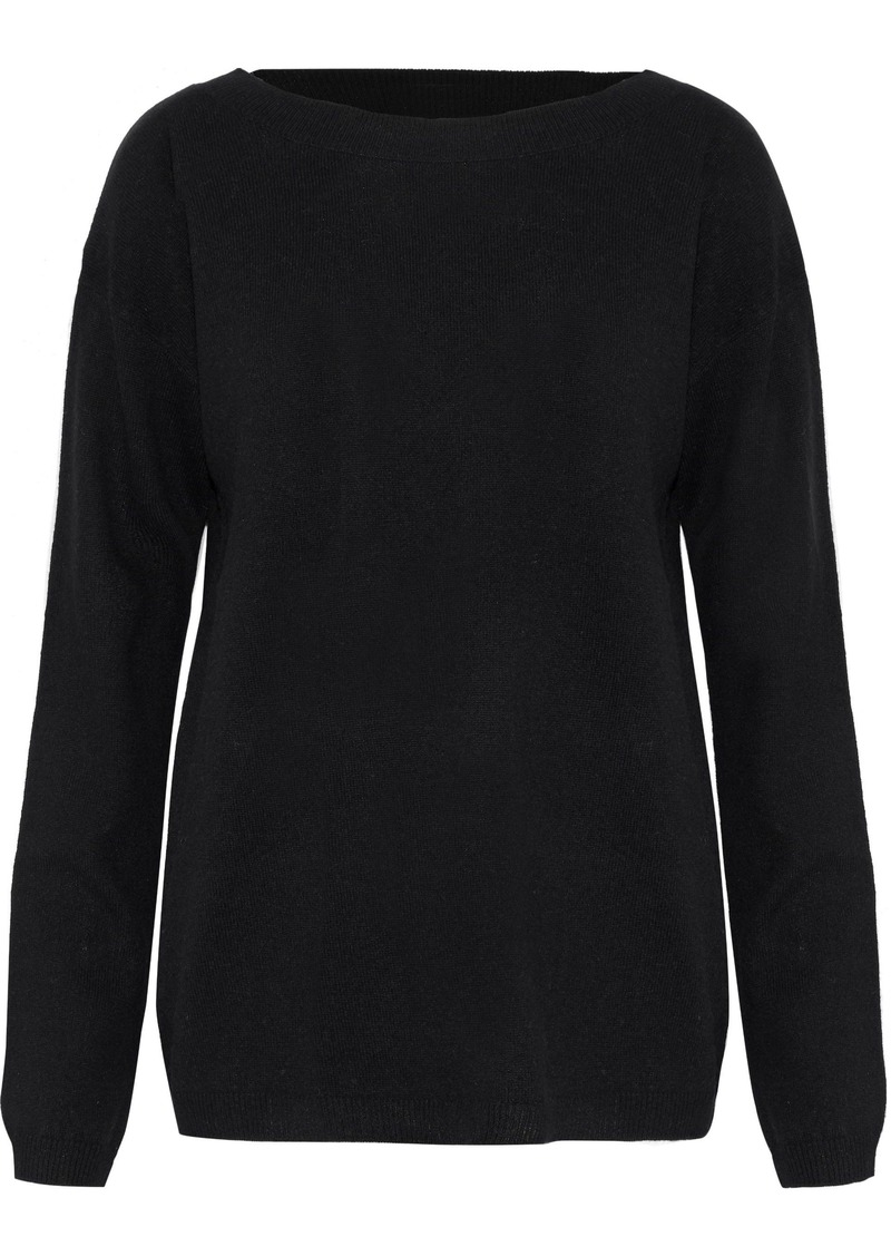 A.l.c. Woman Robinson Cutout Wool And Cashmere-blend Sweater Black