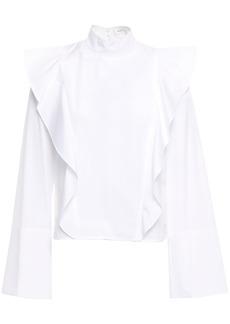 A.l.c. Woman Ruffled Cotton-poplin Blouse White