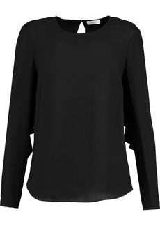 A.l.c. Woman Sally Open-back Silk-crepe Top Black