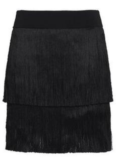 A.l.c. Woman Santiago Fringed Stretch-knit Mini Skirt Black
