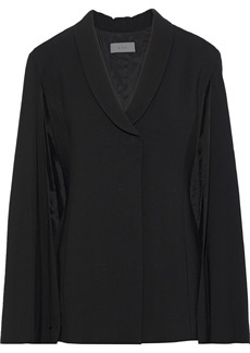 A.l.c. Woman Valetta Cape-effect Textured-crepe Jacket Black