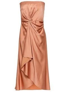 A.l.c. Woman Strapless Draped Satin-crepe Dress Antique Rose