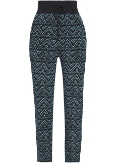 A.l.c. Woman Kyrie Printed Silk Crepe De Chine Tapered Pants Azure