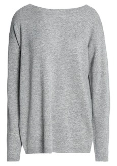 A.l.c. Woman Twist-back Cutout Wool And Cashmere-blend Sweater Gray