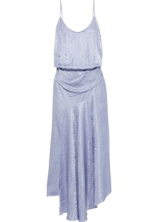 A.l.c. Woman Willa Asymmetric Silk-jacquard Maxi Slip Dress Lavender