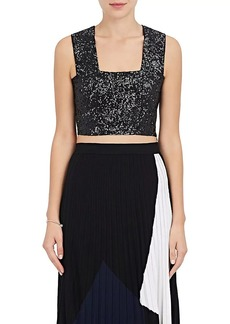 A.L.C. Women's Ali Sequin-Embellished Crop Top