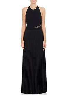 A.L.C. Women's Avalon Pleated-Skirt Halter Gown