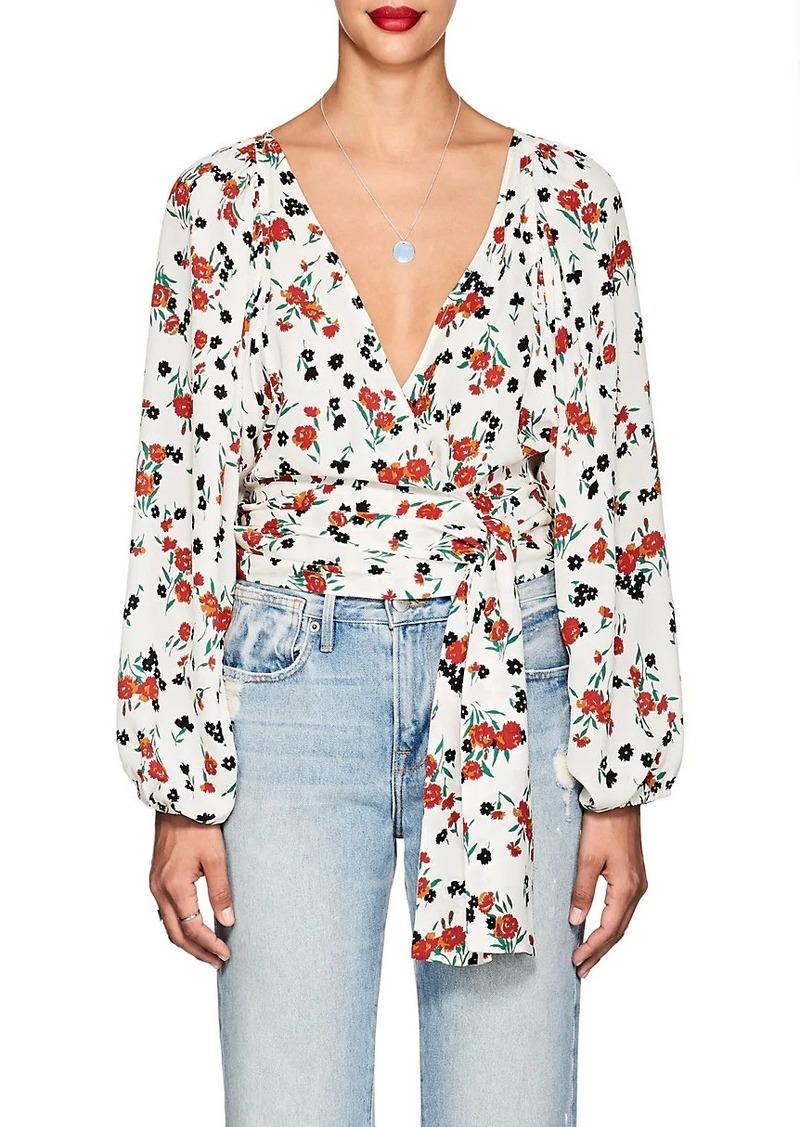 A.L.C. Women's Carla Floral Silk Tie-Front Blouse