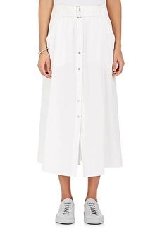 A.L.C. Women's Divya Cotton-Blend Poplin Belted Skirt