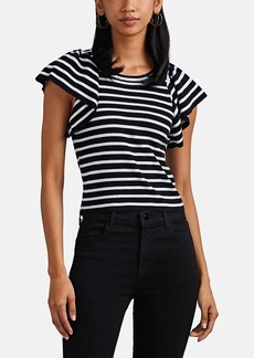 A.L.C. Women's Draper Striped Wool-Blend Crop Top