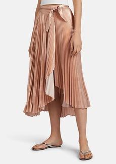 A.L.C. Women's Eleanor Metallic Plissé Midi-Skirt