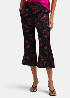 A.L.C. Women's Evans Silk Flared Crop Trousers