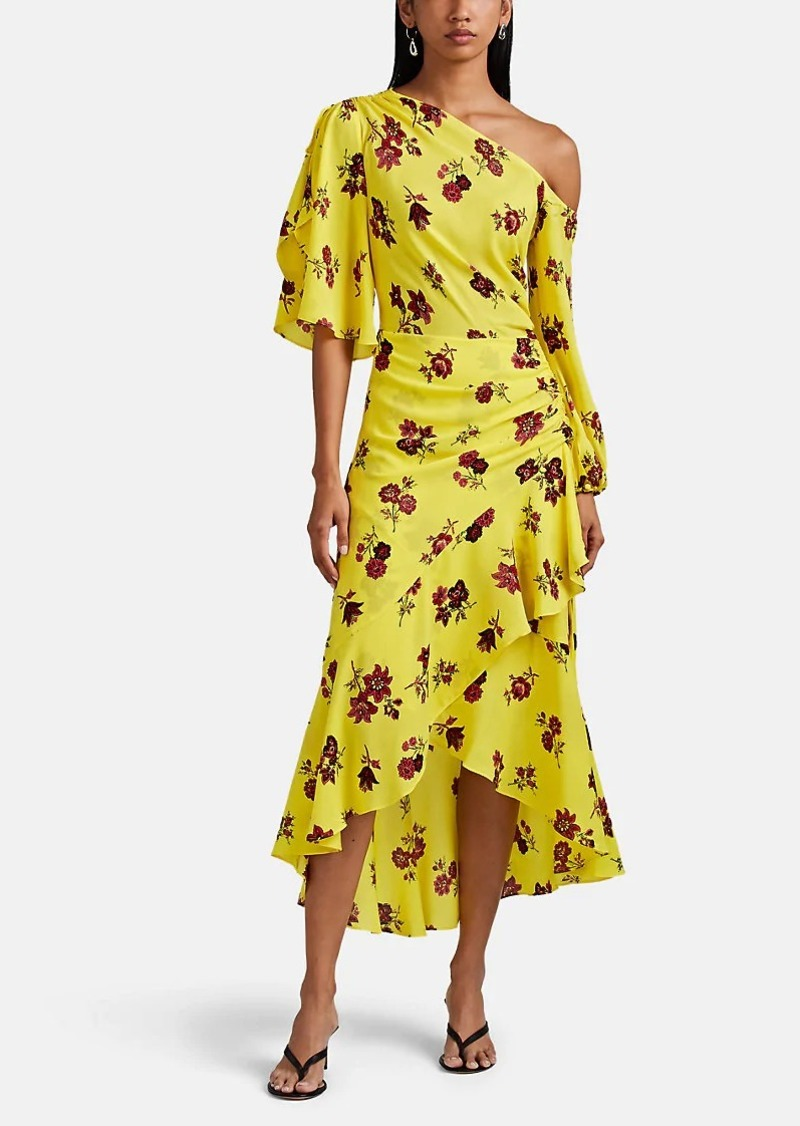 A.L.C. Women's Florence Asymmetric Floral Silk Dress