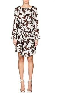 A.L.C. Women's Freja Palm-Leaf-Print Silk Dress