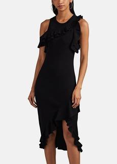 A.L.C. Women's Kellam Ruffle-Trim Rib-Knit Dress