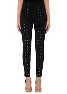 A.L.C. Women's Kingsley Lace-Up Stretch-Cotton Pants